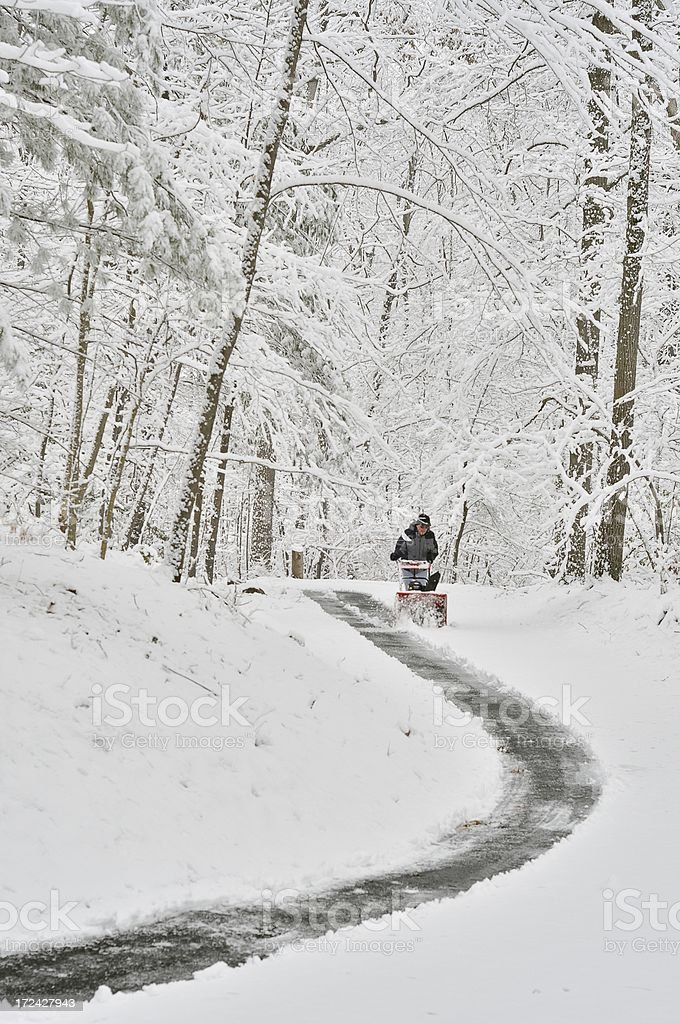 Easter Snow Removal Three royalty-free stock photo