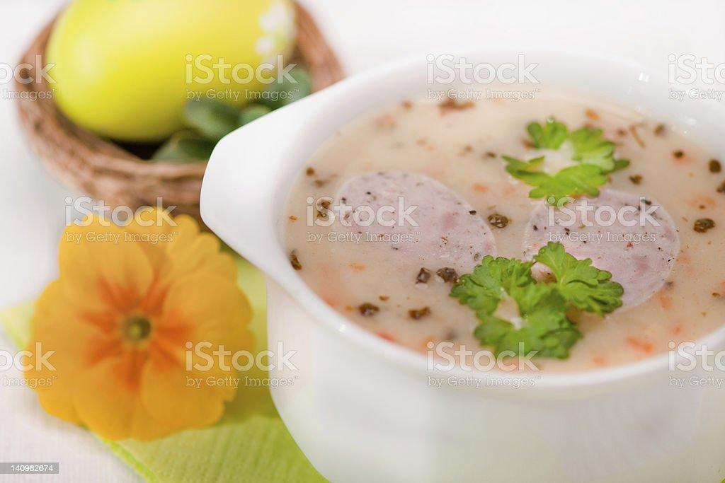 Sopa de Páscoa foto royalty-free