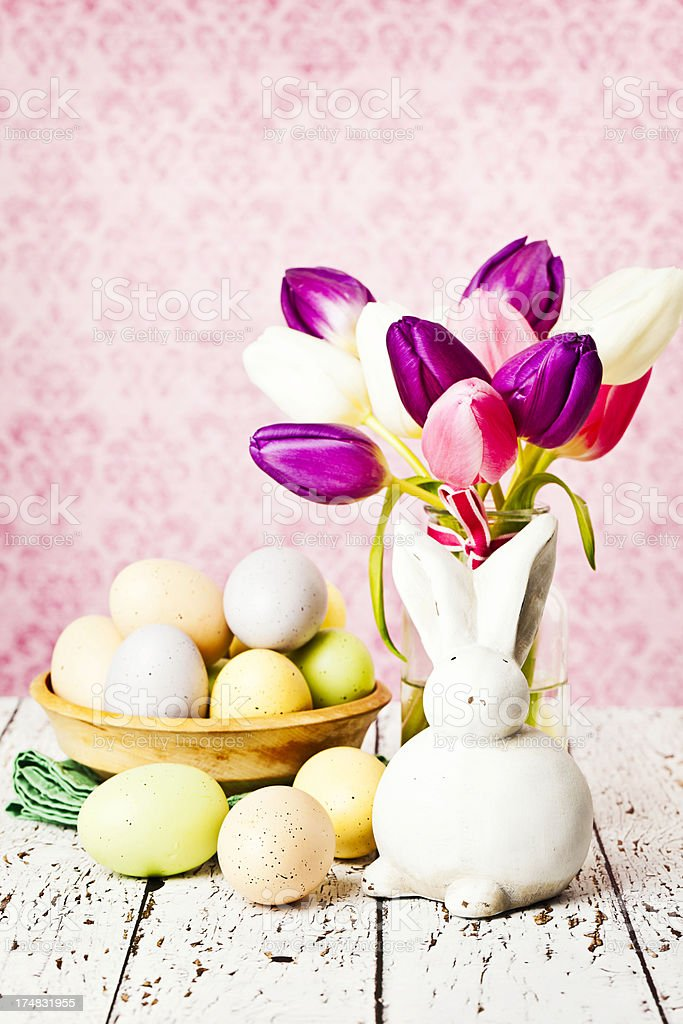 Easter Still Life with Copy Space royalty-free stock photo