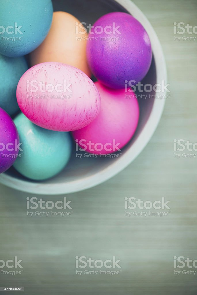 Easter Still Life with Real Eggs royalty-free stock photo