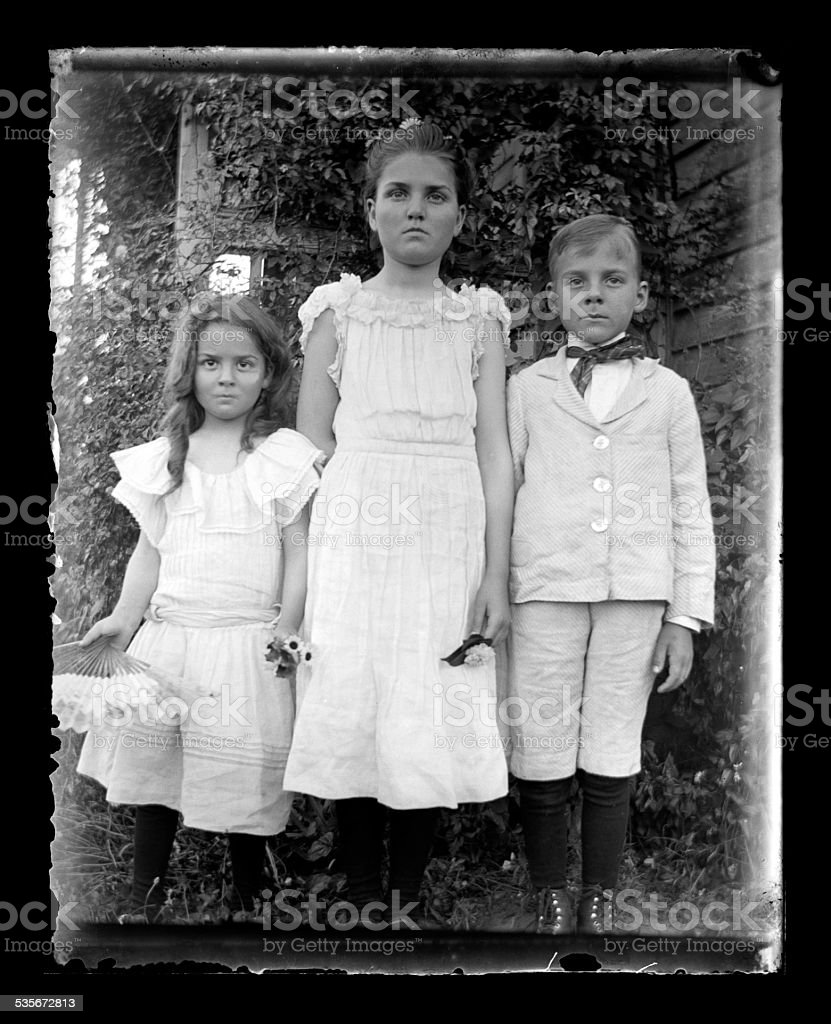 Easter Sunday, Circa 1890 stock photo