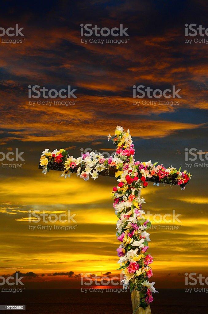 Easter Sunrise Service stock photo