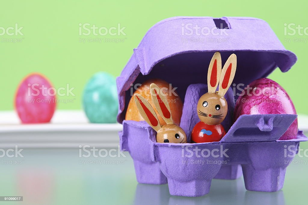 Easter Surprise in Purple stock photo
