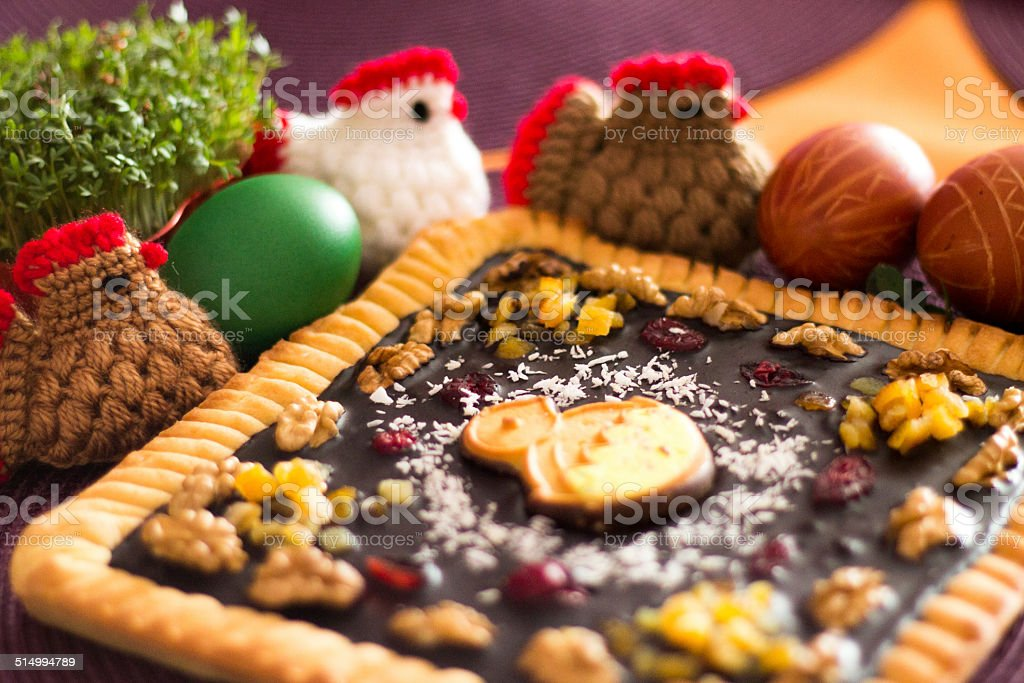Easter sweet table stock photo