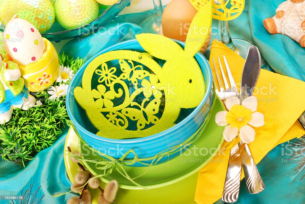 easter table decoration royalty-free stock photo
