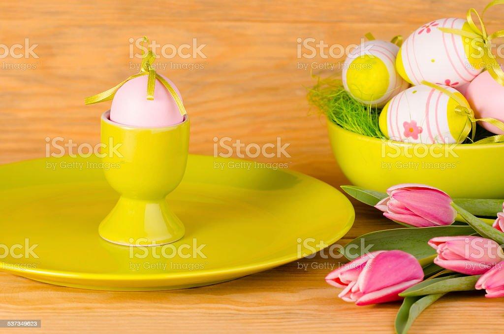 Pascua decoración de mesa foto de stock libre de derechos