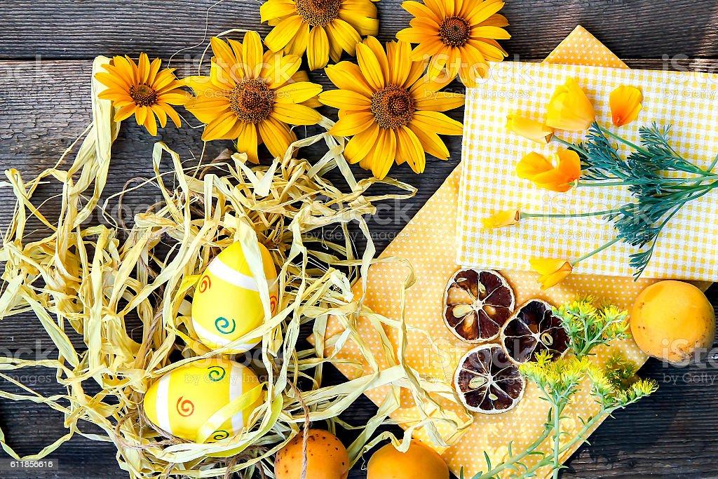 Easter theme background stock photo