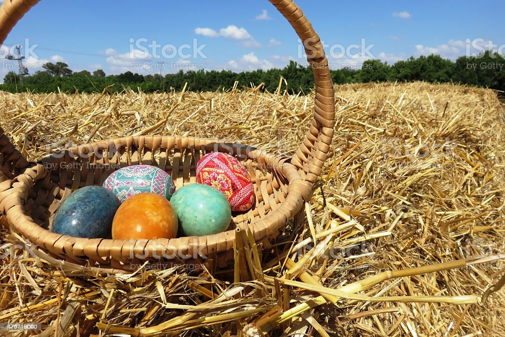Easter theme stock photo