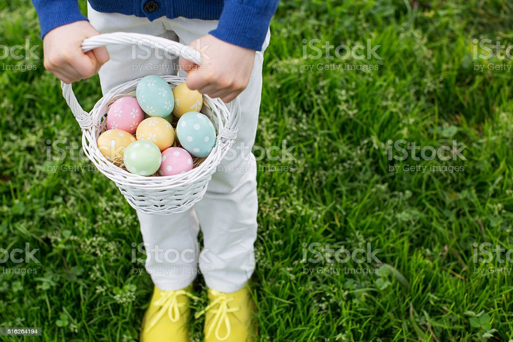 easter time in the park stock photo