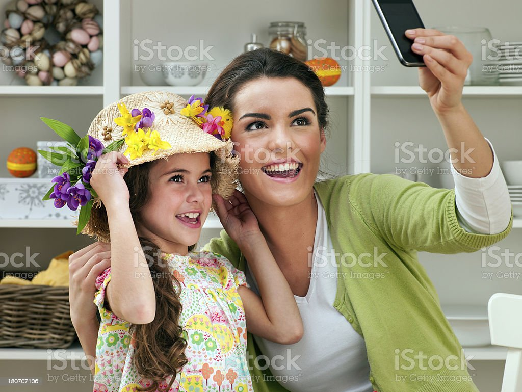 Easter Time Selfie royalty-free stock photo