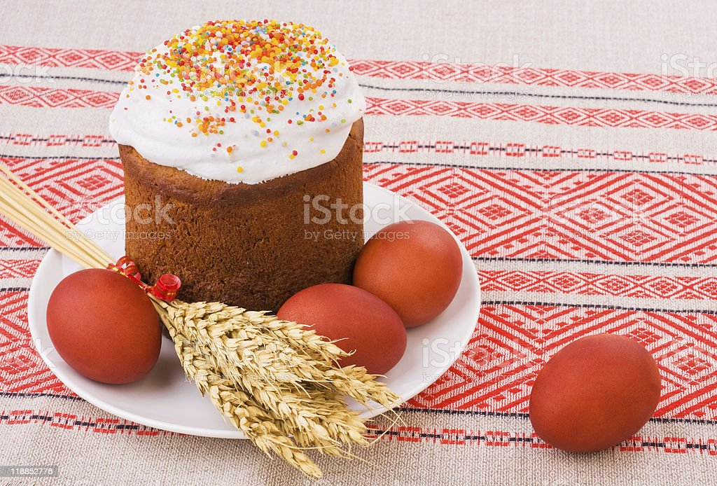 Easter tradition food stock photo