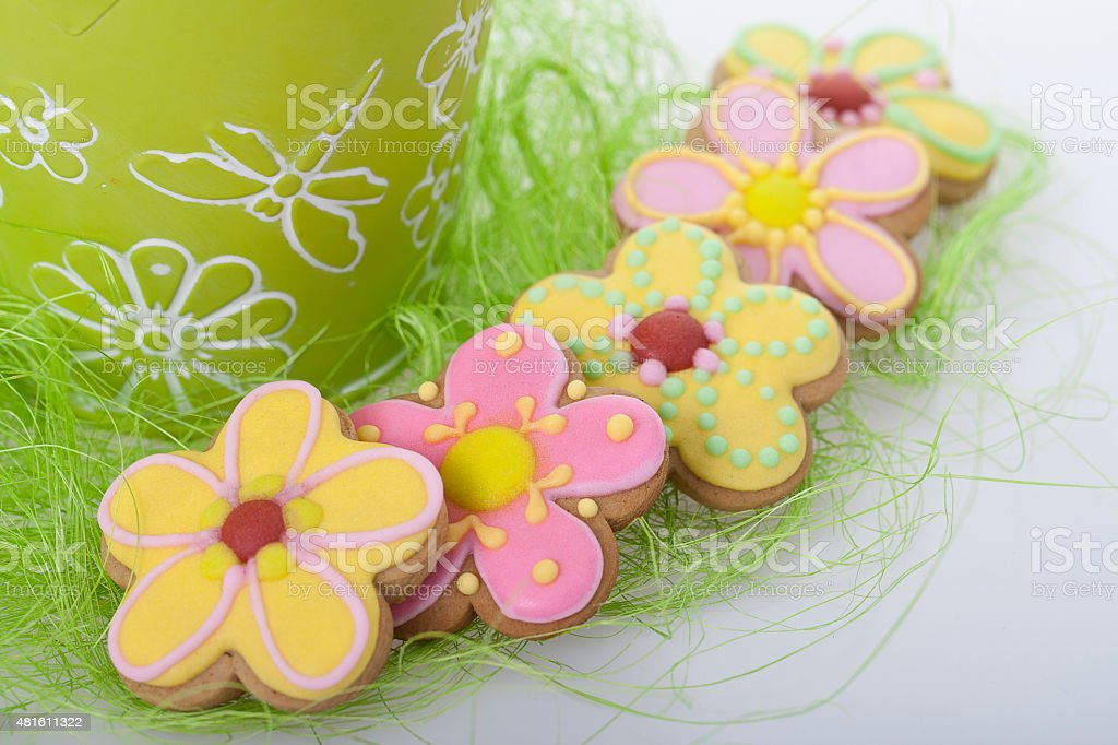 Easter traditional Gingerbread cookies stock photo