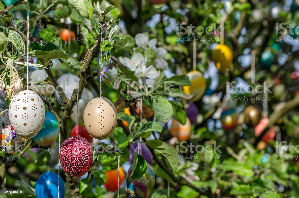 Easter Tree stock photo