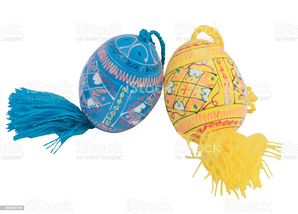 easter two eggs colors eggs stock photo