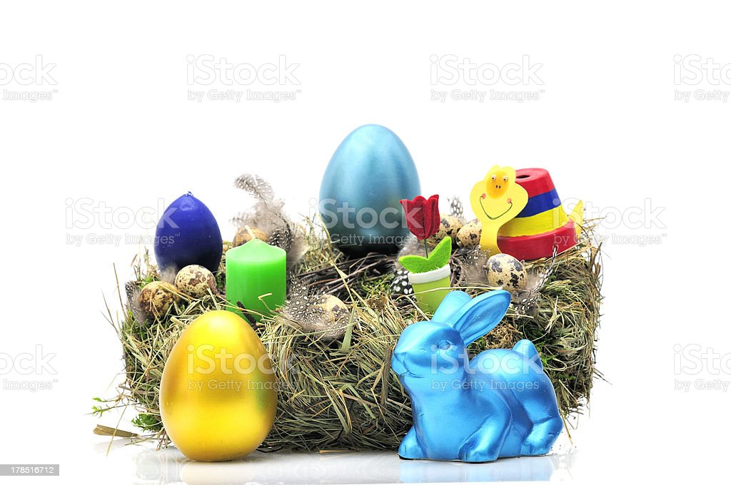 easter wreath royalty-free stock photo