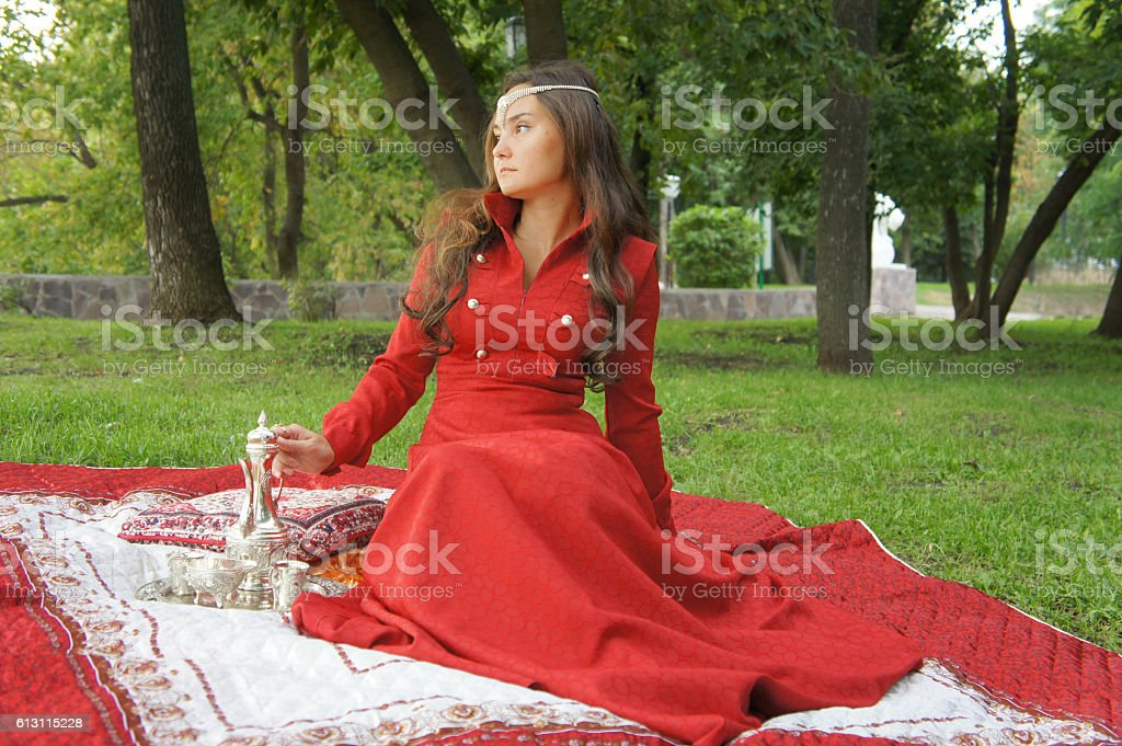 Eastern appearance young woman stock photo