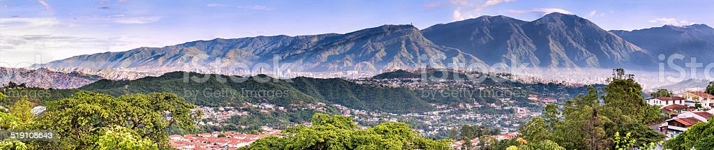 Eastern Caracas city aerial view at early morning. Venezuela stock photo