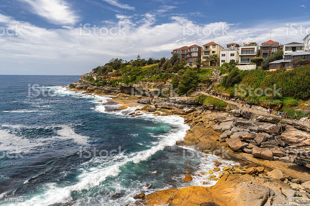 Eastern Coastal Walk in Bondi stock photo