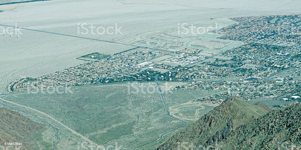 Eastern edge of Palm Springs in southern California stock photo