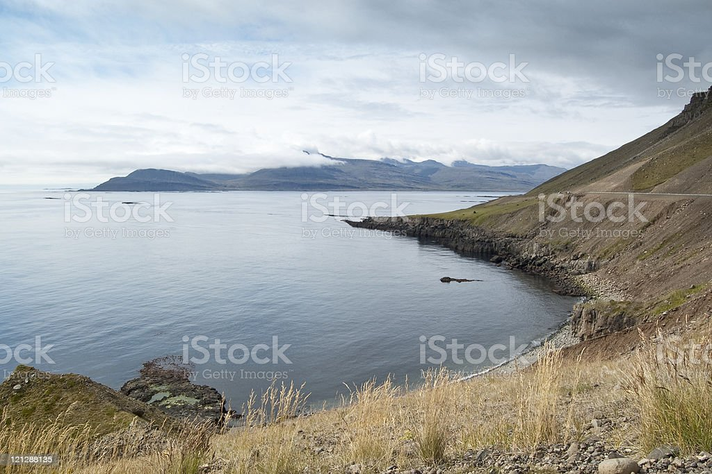 Eastern fiords of Iceland stock photo