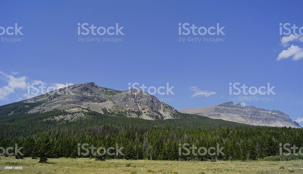 Eastern Glacier National Park stock photo