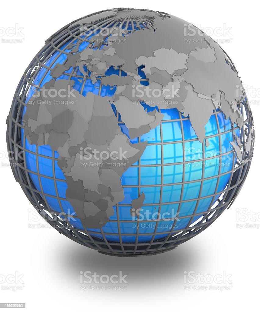 Eastern Hemisphere on Earth stock photo