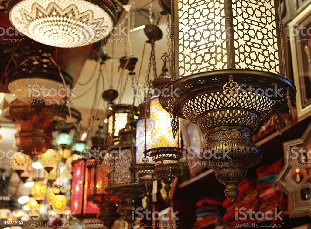 eastern lantern stock photo