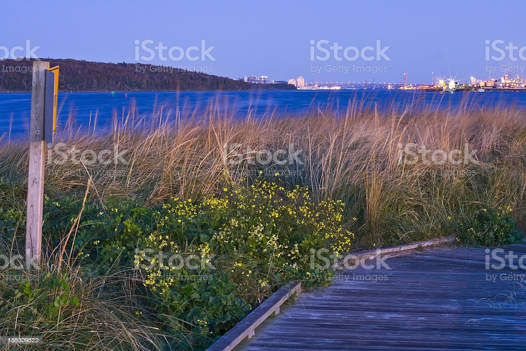 Eastern Passage Boardwalk stock photo
