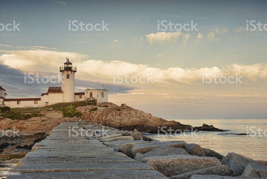Eastern Point Lighthouse, Gloucester, Massachusetts stock photo