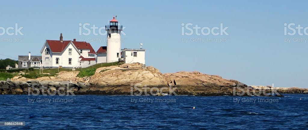 Eastern Point Lighthouse stock photo