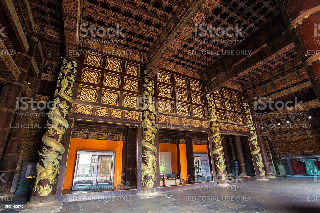 Eastern Qing Mausoleums- Cixi Mausoleum scenery stock photo