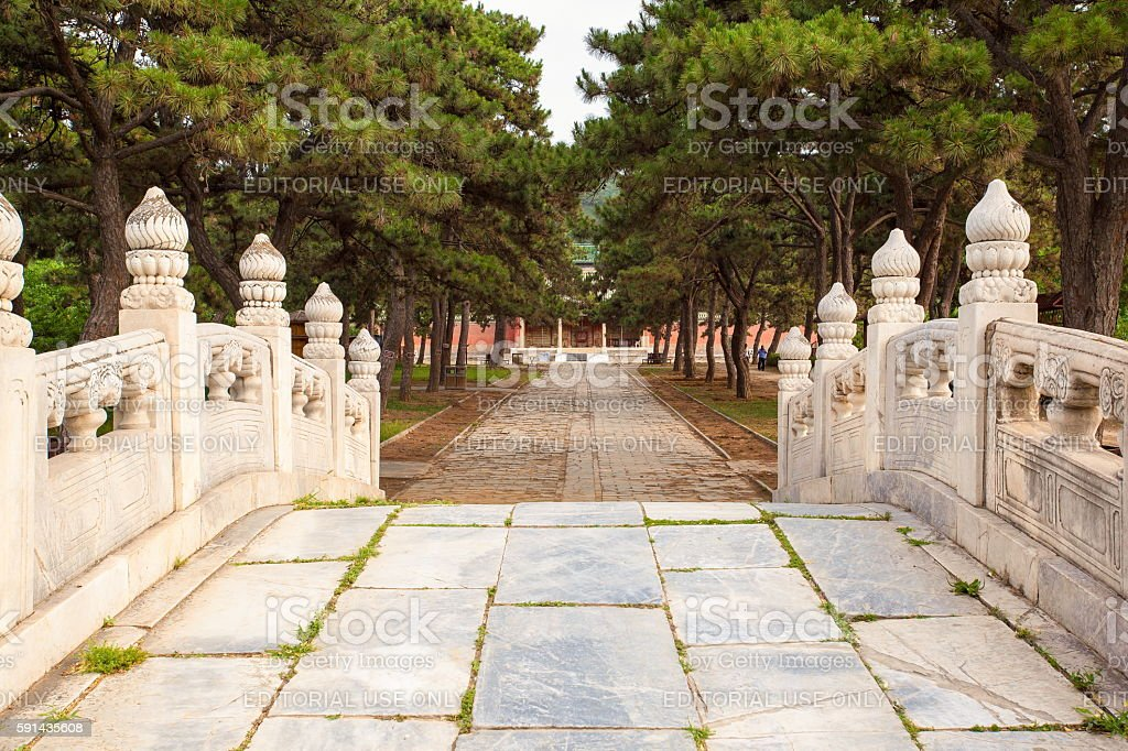 Eastern Qing Mausoleums-Fragrant concubine cemetery scenery stock photo
