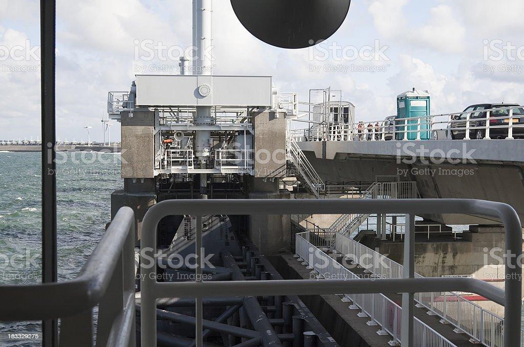 Eastern Scheldt flood barrier stock photo