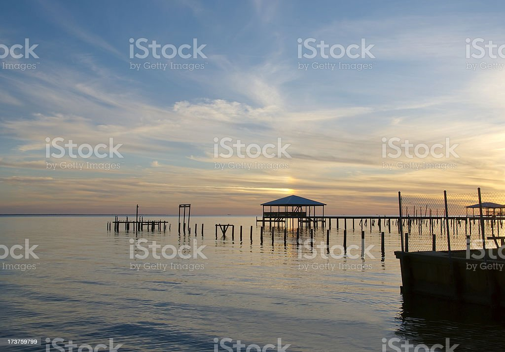 Eastern Shore Sunset royalty-free stock photo