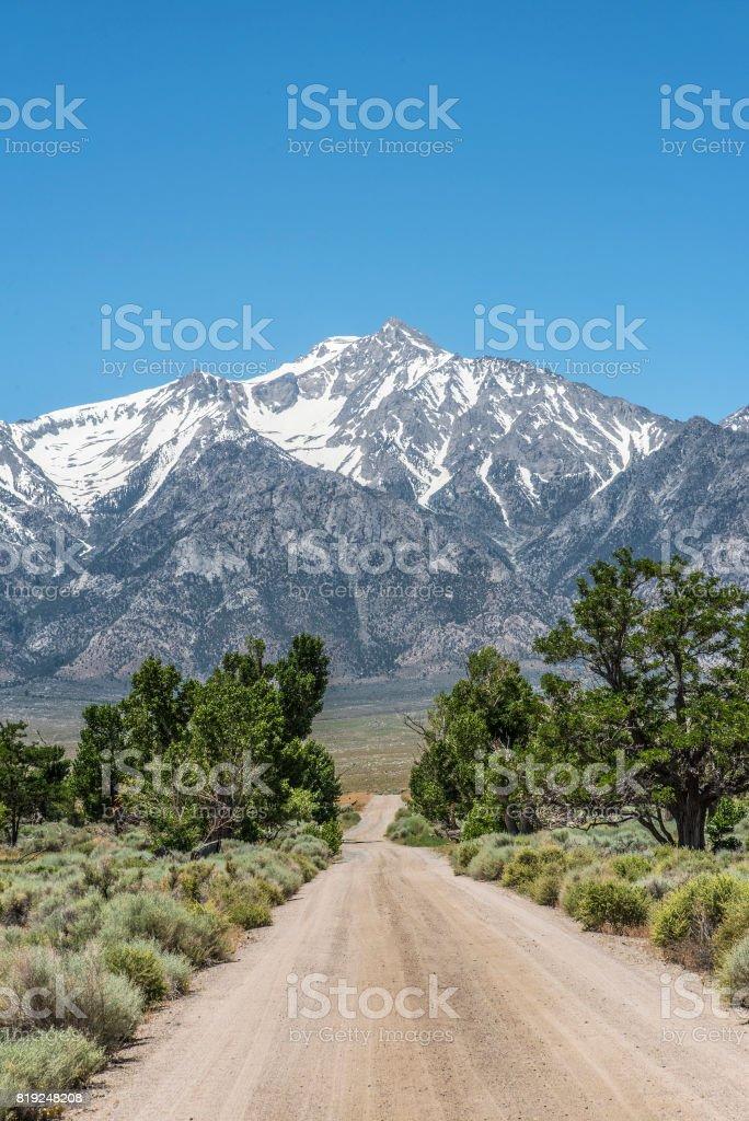 Eastern Sierra backroad stock photo
