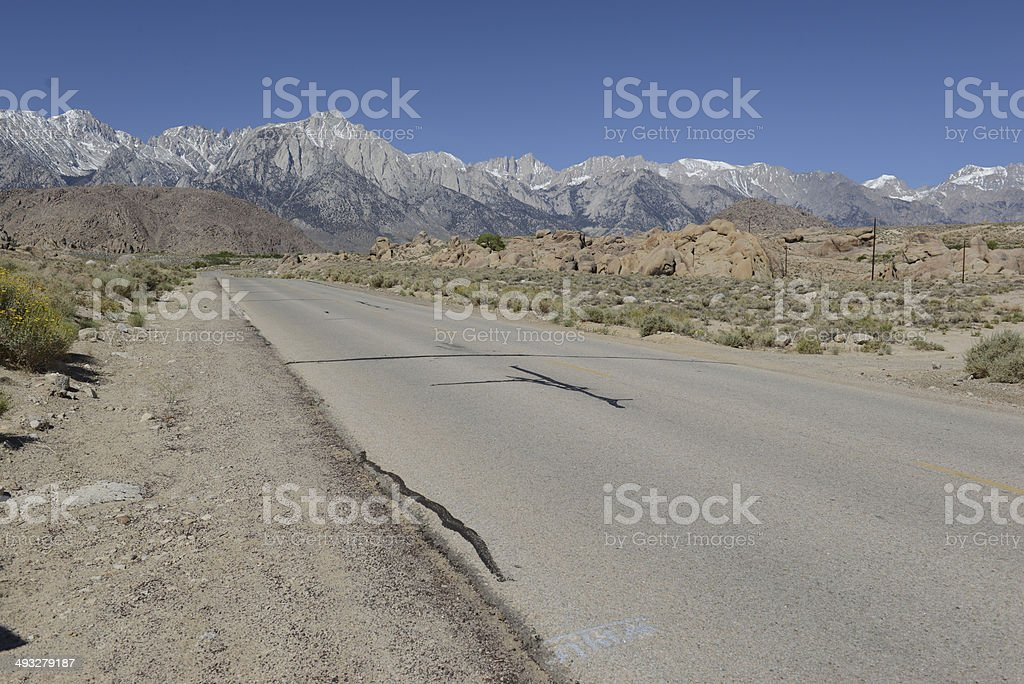 Eastern Sierra - Driving in the Mountains stock photo
