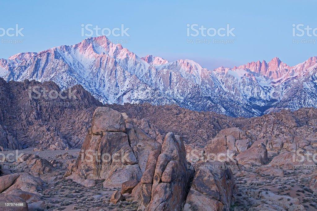Eastern Sierra Nevada Mountains royalty-free stock photo