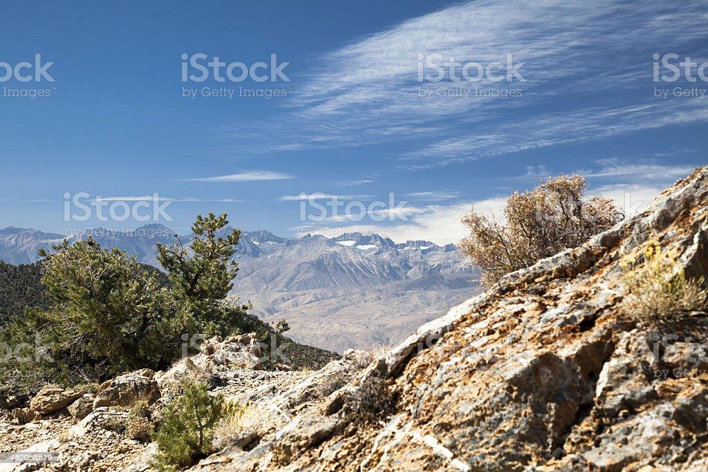 Eastern Sierra Nevada View stock photo