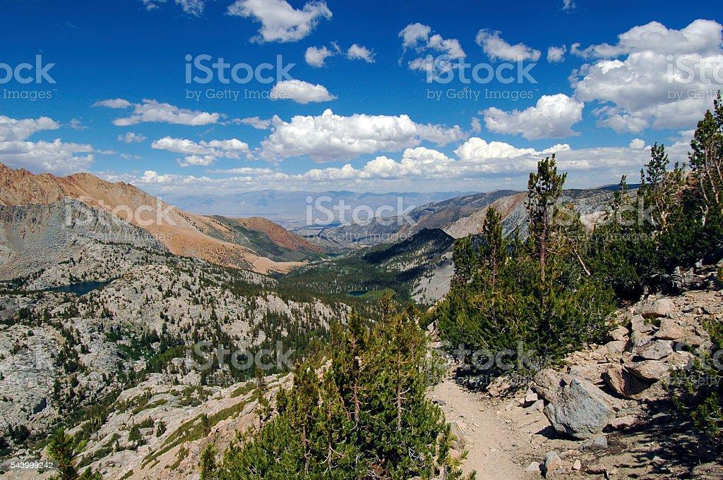 Eastern Sierra vista stock photo