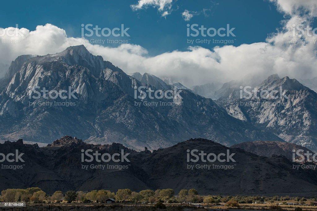 Eastern Sierras Storm stock photo