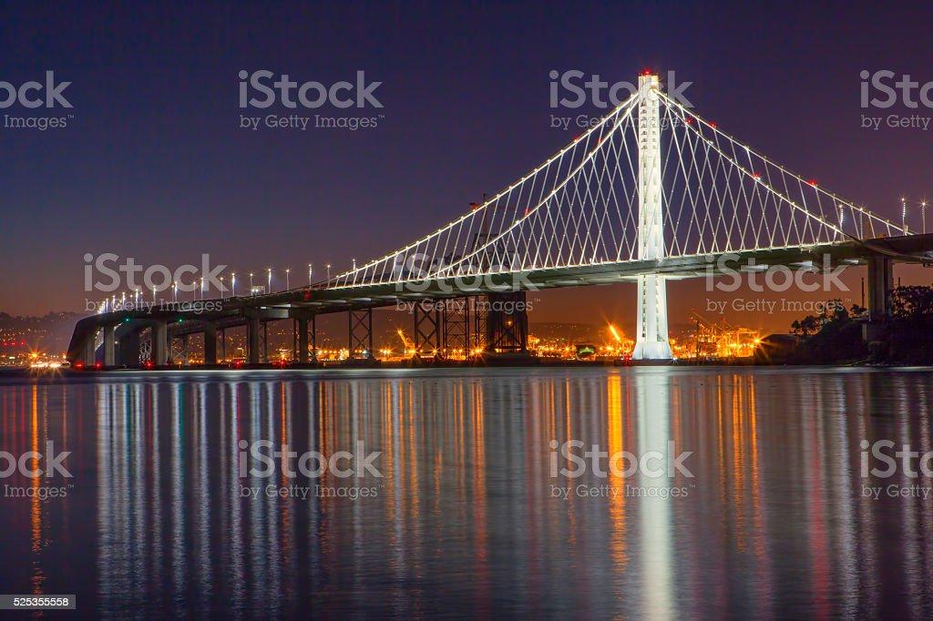 Eastern Span of the San Francisco Bay Bridge stock photo