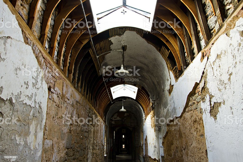 Eastern State Penitentiary Prison, ceiling detail stock photo