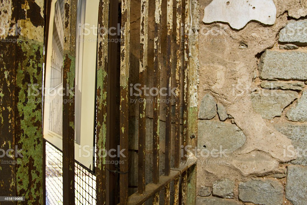 Eastern State Penitentiary Prison, detail of the walls stock photo
