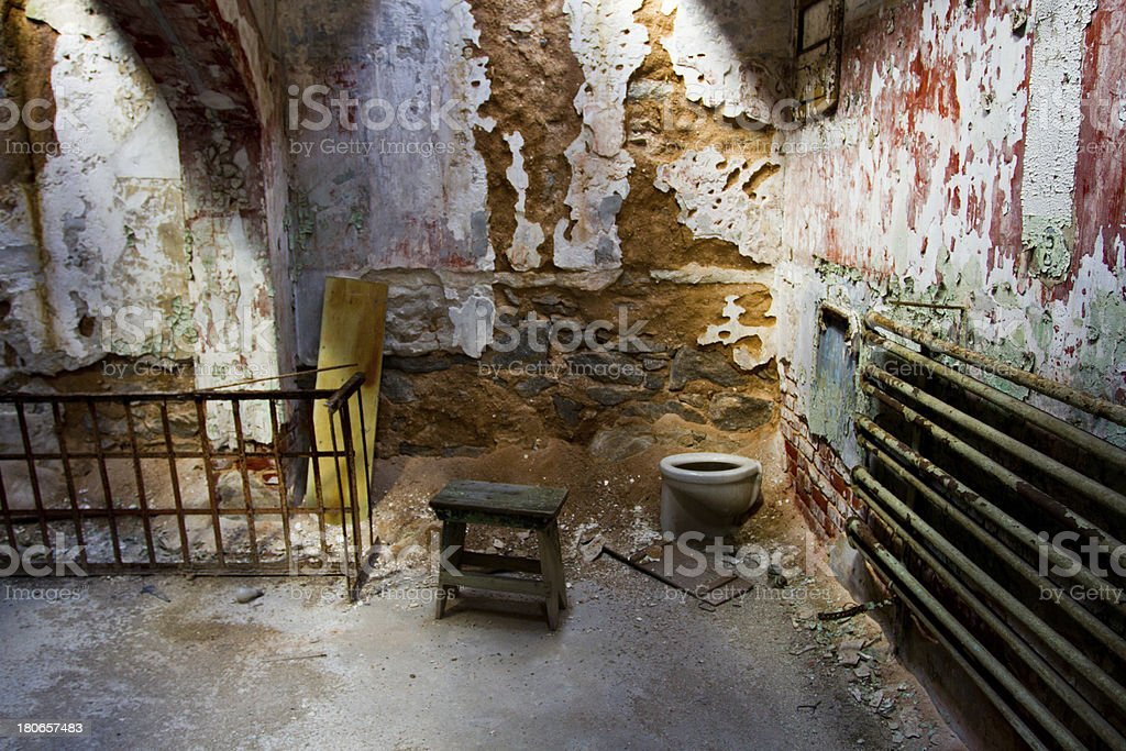 Eastern State Penitentiary Prison, inside a cell royalty-free stock photo
