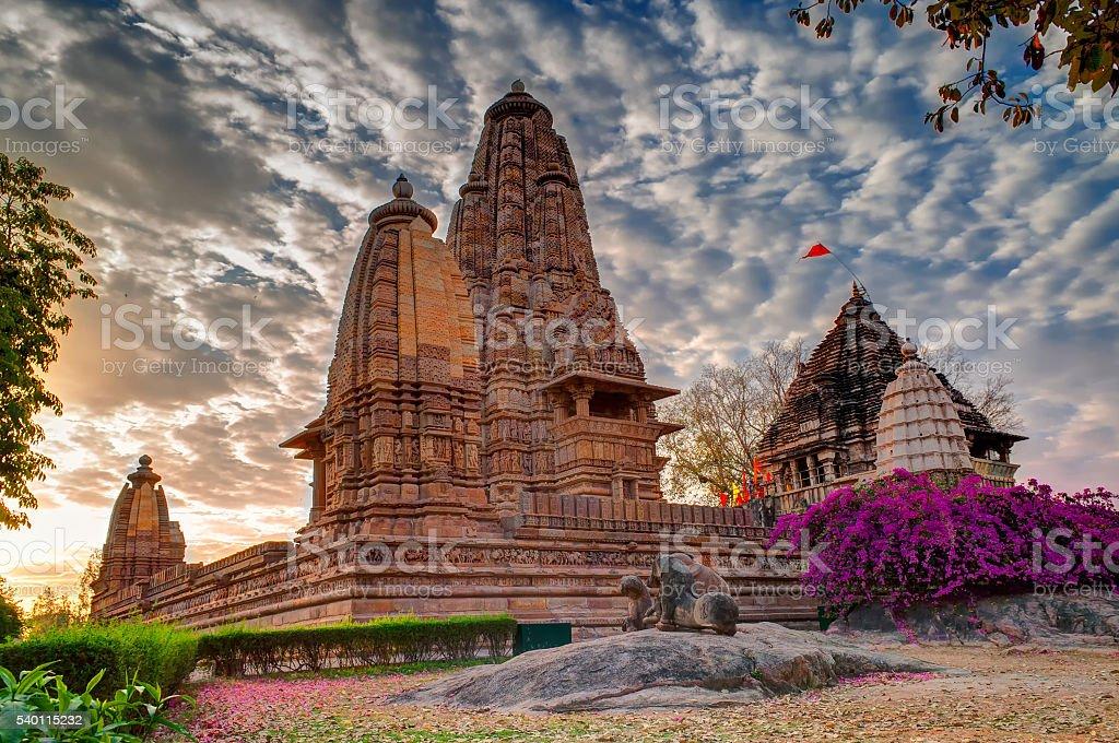 Eastern Temples of Khajuraho, Madhyapradesh, India stock photo