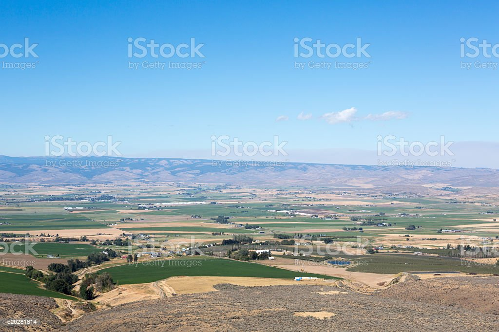 Eastern Washington desert and plains area, USA stock photo