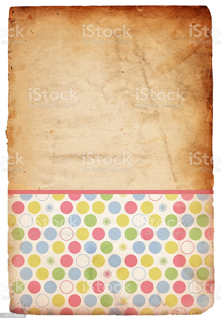 Easter/Spring Floral Patterned Paper XXXL royalty-free stock photo