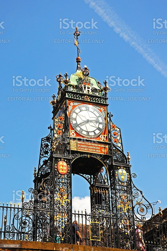 Eastgate Clock, Chester. stock photo