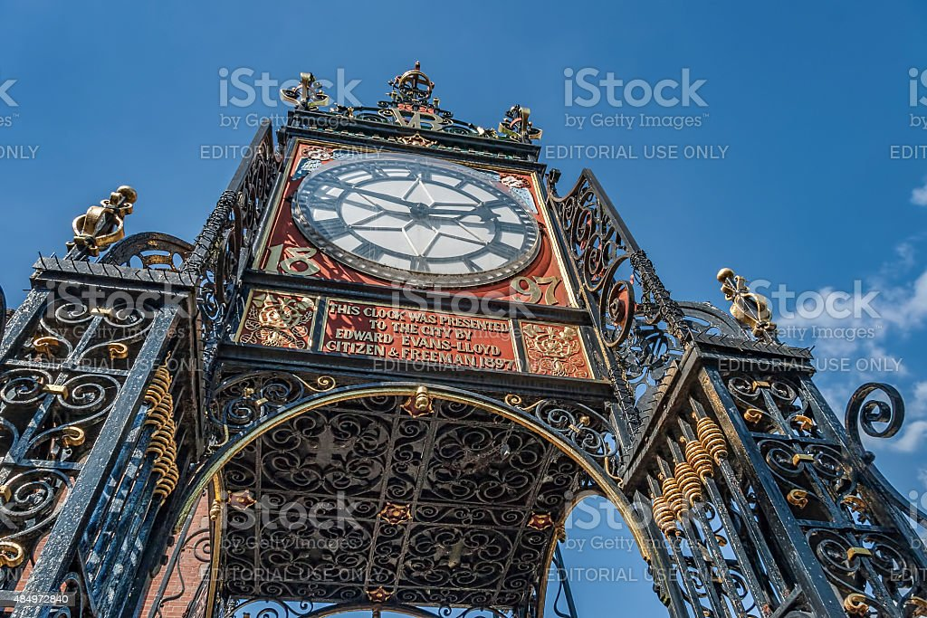 Eastgate Clock in Chester Cheshire uk. stock photo