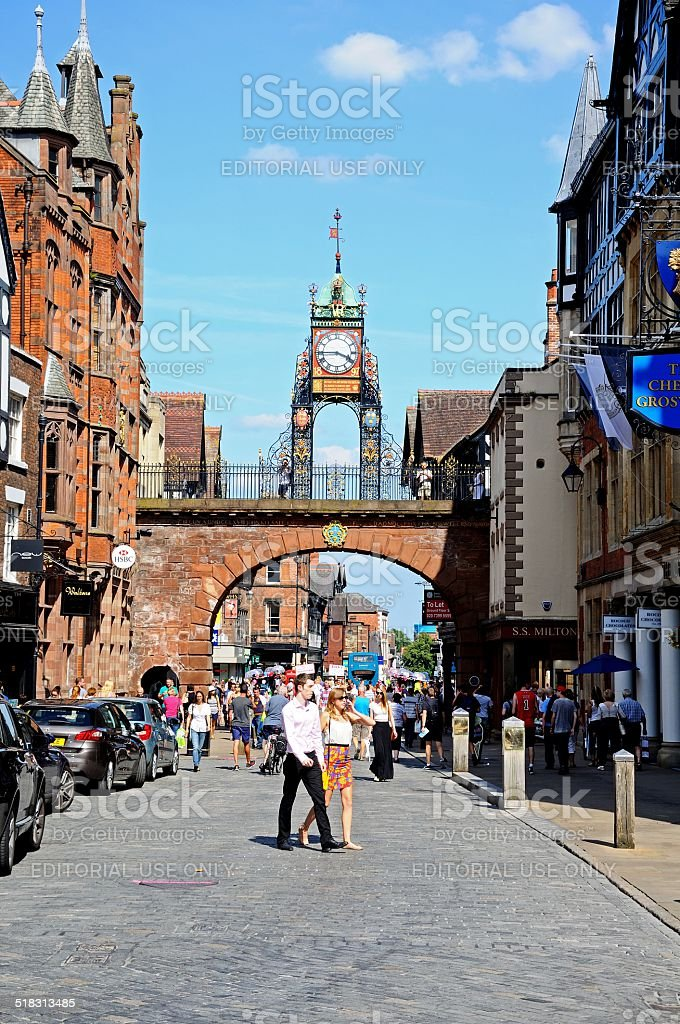 Eastgate Street, Chester. stock photo